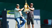 The Geraldton Walleye Classic ended with the team of Roger Mayer and Jeff Rooney hoisting the coveted trophy over their heads.
