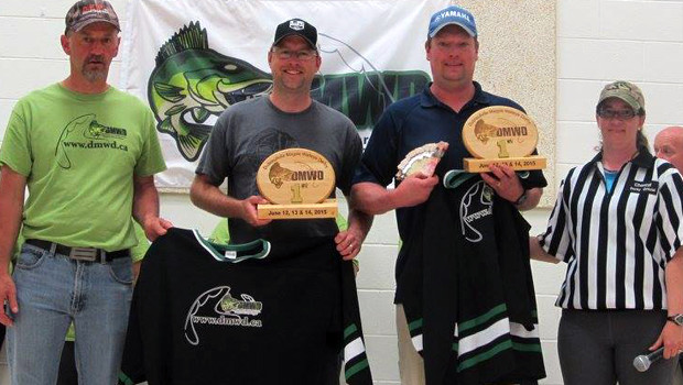 The Wawa team of Travis Gendron and Trevor Bernath earned top prize with their two day total of 32.93 pounds of Magpie River walleye!