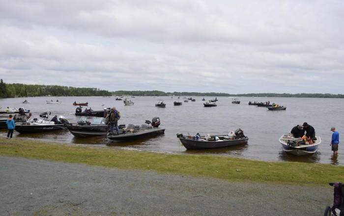 Competitor boats at the 2016 Geraldton Walleye Classic.