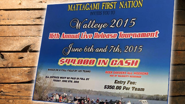In two weeks the 2015 NOWT season will kick off at the first event of the year - the Mattagami Lake First Nations Walleye Tournament.